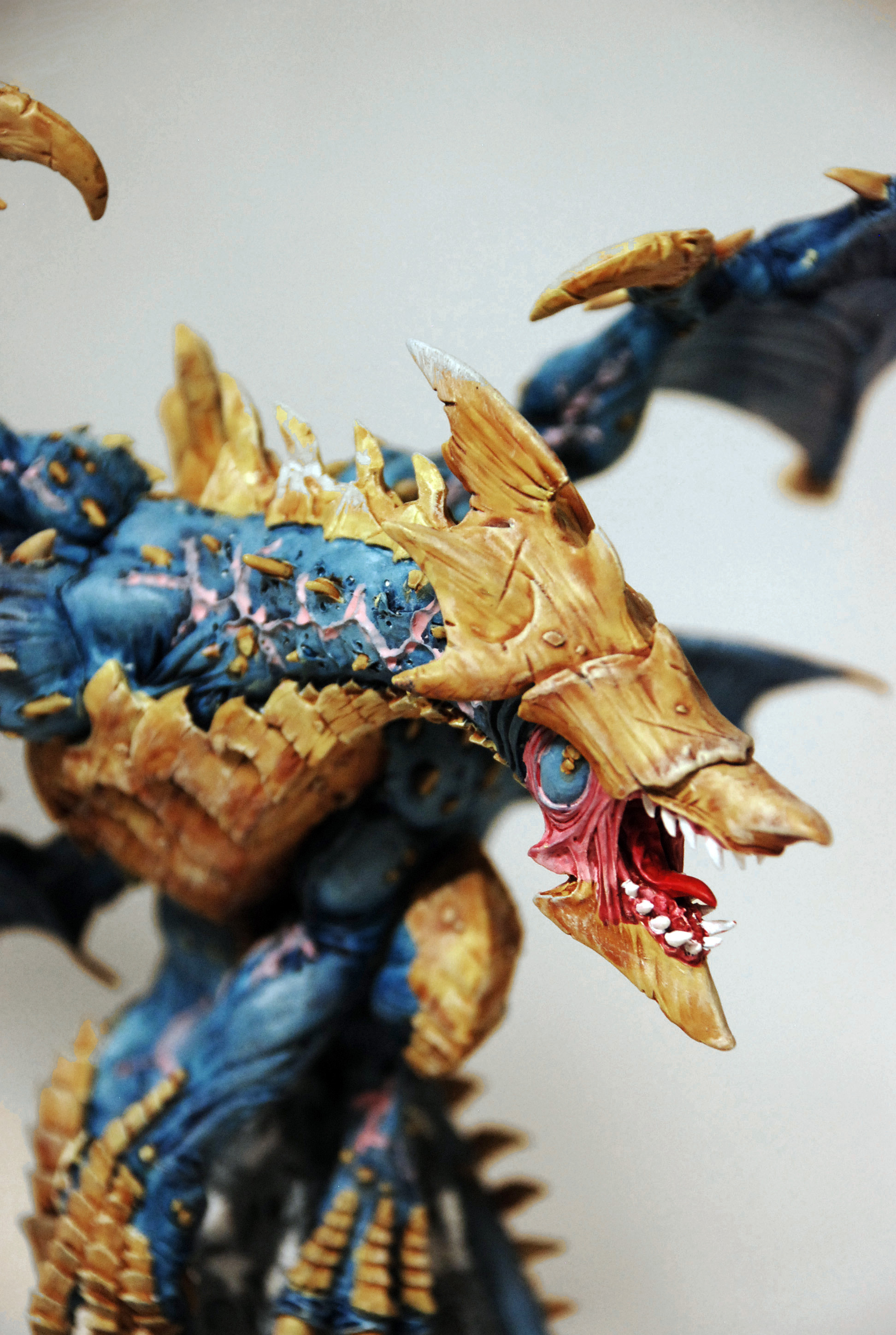Photo of a miniature gaming model dragon