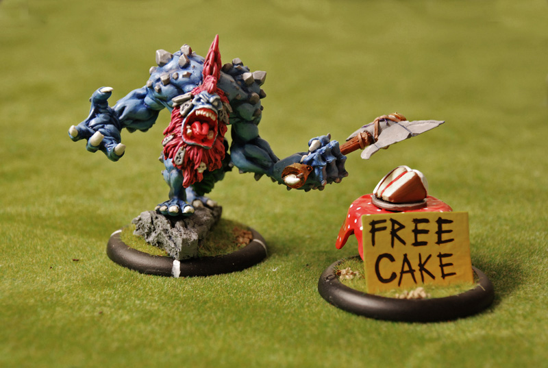 Photo of a miniature gaming model